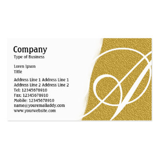 Torn Away - Amber Embossed Texture Pack Of Standard Business Cards