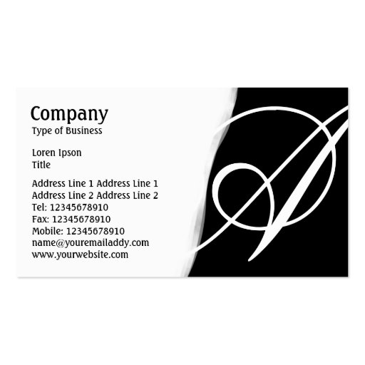 Torn Away - Black Business Cards