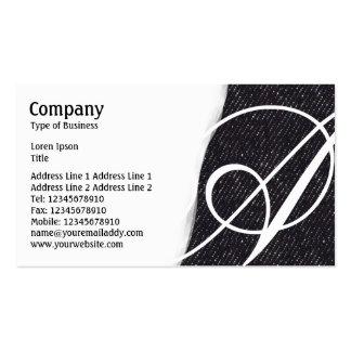 Torn Away - Black Denim Texture Pack Of Standard Business Cards