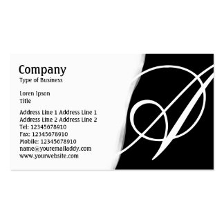 Torn Away - Black Pack Of Standard Business Cards