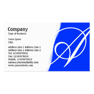 Torn Away - Blue Pack Of Standard Business Cards