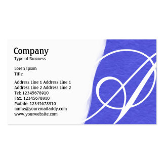 Torn Away - Blue Rough Paper Texture Business Card Template