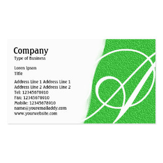 Torn Away - Bright Green Embossed Texture Pack Of Standard Business Cards
