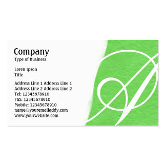 Torn Away - Bright Green Rough Paper Texture Pack Of Standard Business Cards