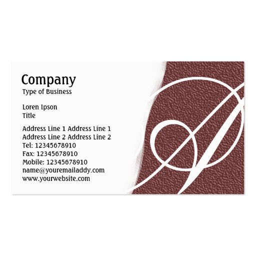 Torn Away - Brown Embossed Texture Business Cards