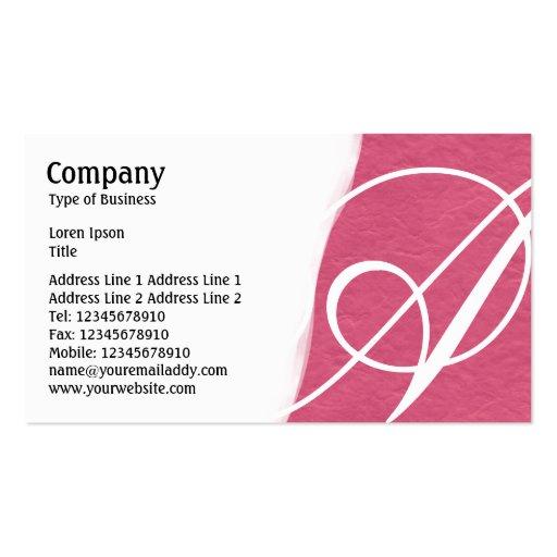 Torn Away - Crimson Rough Paper Texture Business Card Templates