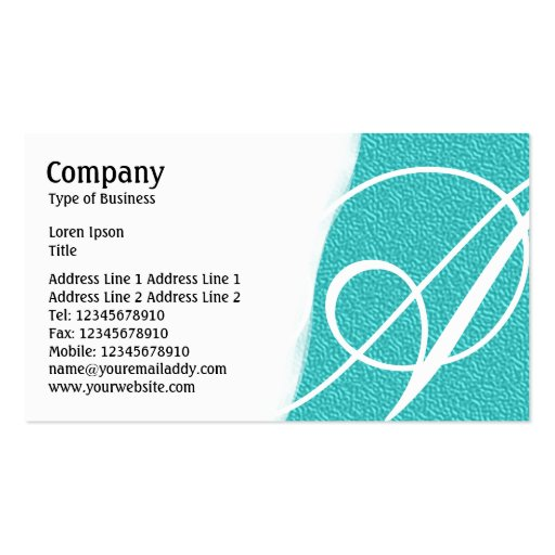 Torn Away - Cyan Embossed Texture Business Card