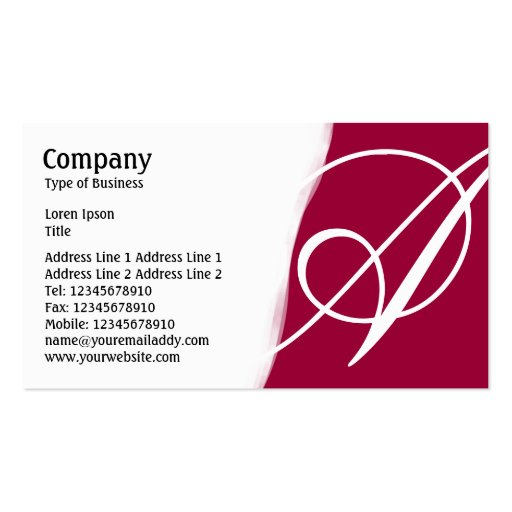 Torn Away - Dark Crimson Business Card Templates
