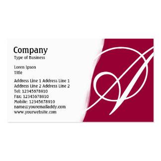 Torn Away - Dark Crimson Pack Of Standard Business Cards