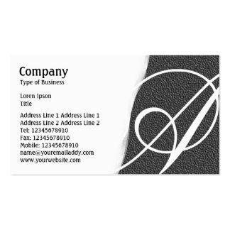Torn Away - Dark Gray Embossed Texture Business Cards