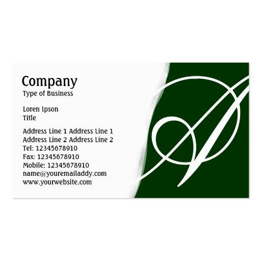 Torn Away - Dark Green Business Card Templates