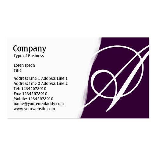 Torn Away - Dark Purple Business Cards