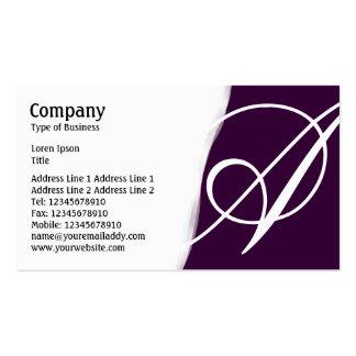 Torn Away - Dark Purple Pack Of Standard Business Cards