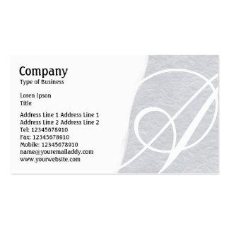 Torn Away - Light Gray Rough Paper Texture Business Card