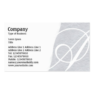 Torn Away - Light Gray Rough Paper Texture Pack Of Standard Business Cards
