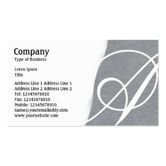 Torn Away - Mid Gray Rough Paper Texture Business Card Template