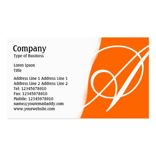 Torn Away - Orange Business Card Template