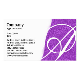 Torn Away - Purple Embossed Texture Pack Of Standard Business Cards
