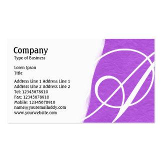 Torn Away - Purple Rough Paper Texture Business Card