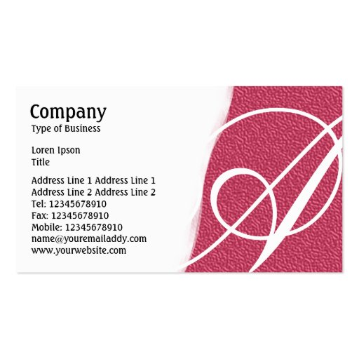 Torn Away - Red Embossed Texture Business Card Template