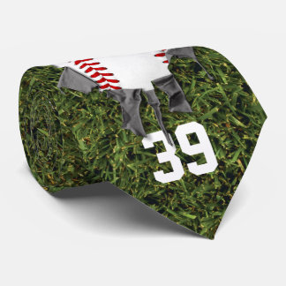 Torn Baseball (grass/personalized) Tie