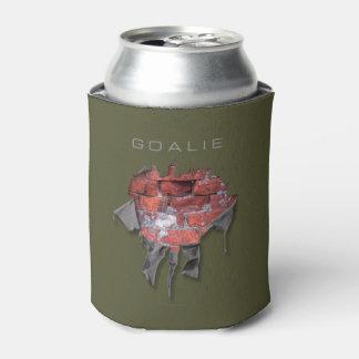 Torn Brick Wall Goalie (Hockey) Can Cooler
