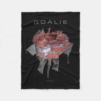 Torn Brick Wall Goalie (Soccer) Fleece Blanket