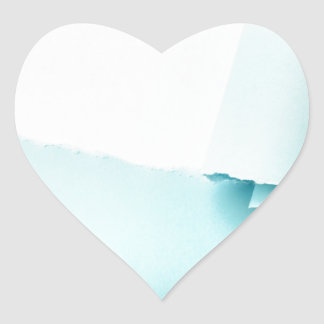 Torn colored paper heart sticker