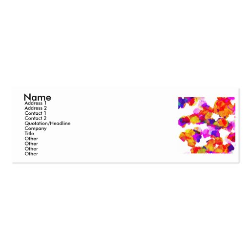 Torn Colours I Profile Card Business Card Templates