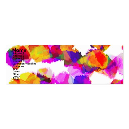 Torn Colours II Profile Card Business Cards