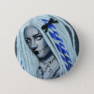 Torn Gothic Ragdoll Fantasy Art Button