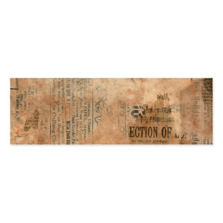 Torn Grungy Old Newspaper Background Business Card Template