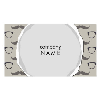 torn hipster mustache and glases pack of standard business cards