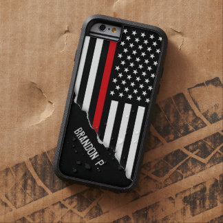 Torn Out Look Thin Red Line American Flag Tough Xtreme iPhone 6 Case