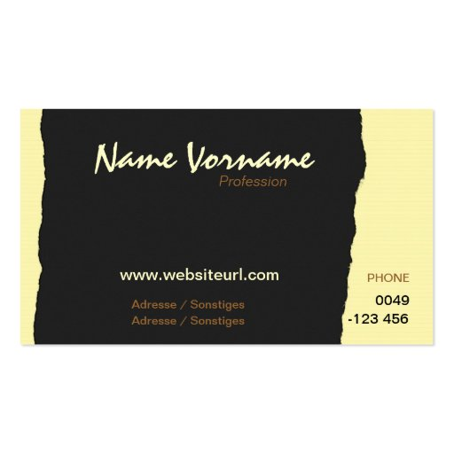 torn paper business cards