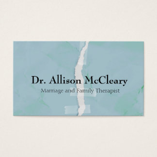 Torn paper business card