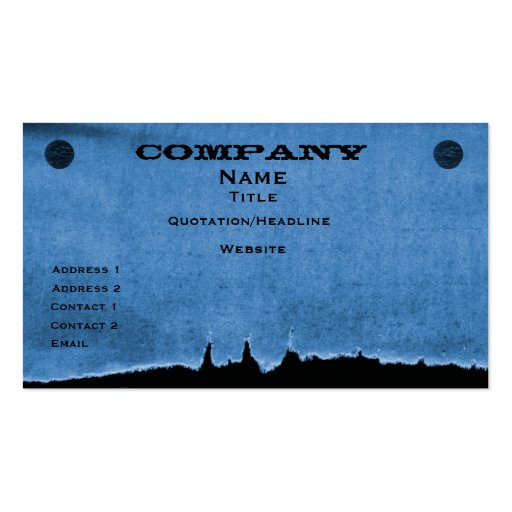 Torn Paper Business Card, Blue