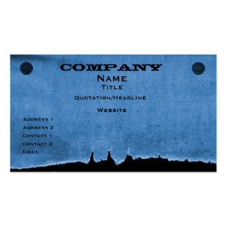 Torn Paper Business Card, Blue Pack Of Standard Business Cards