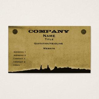 Torn Paper Business Card, Dark Beige Business Card