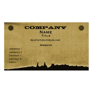 Torn Paper Business Card, Dark Beige Pack Of Standard Business Cards