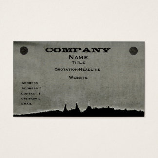 Torn Paper Business Card, Gray