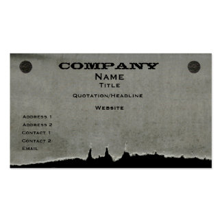 Torn Paper Business Card, Gray Pack Of Standard Business Cards