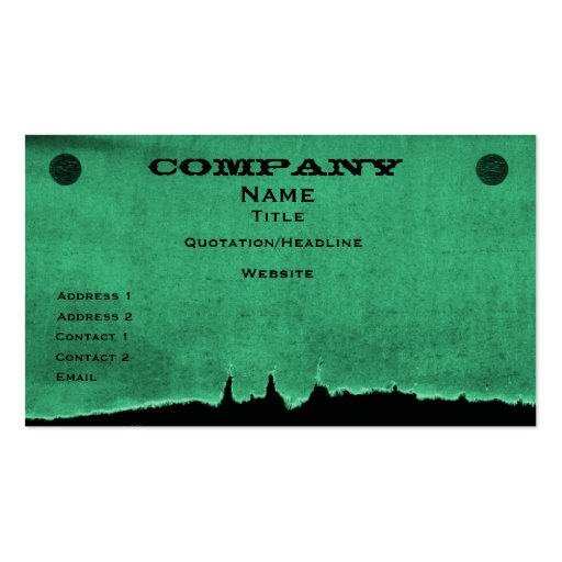 Torn Paper Business Card, Green