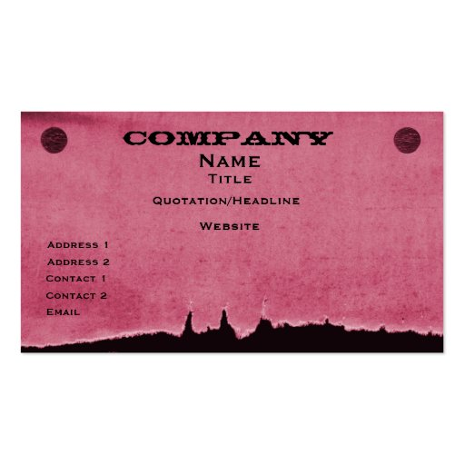 Torn Paper Business Card, Pink