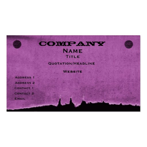 Torn Paper Business Card, Purple