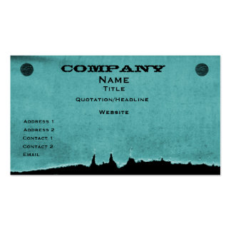 Torn Paper Business Card, Teal Pack Of Standard Business Cards