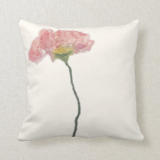 Torn paper collage watercolor flower cushion