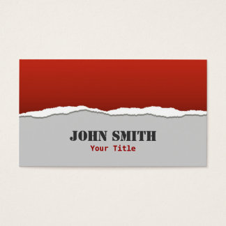 Torn Paper Design Business Card