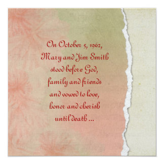 Torn Paper Vow Renewal Card