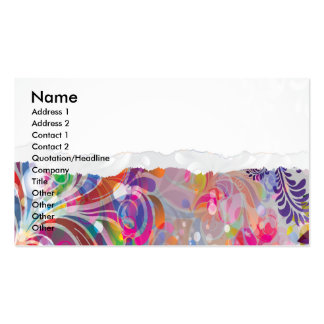 torn reto colorful abstract floral bliss business card templates